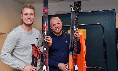 KLARE: Sivert Grepperud og Martin Martinsen skal gå Norge på langs på ski. Turen starter 1. februar.