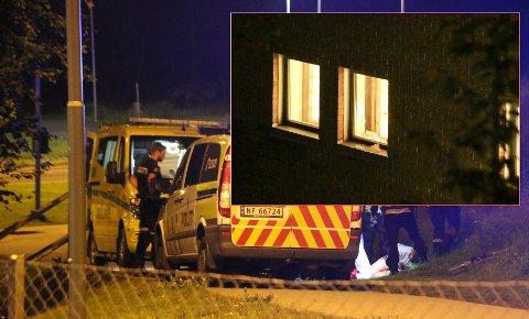 Det var gjennom dette vinduet at mannen i 20-årene klarte å rømme ut fra arresten. Foto:  Theo Aasland Valen