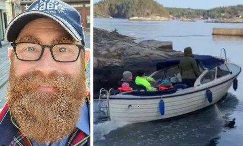 BÅTEIER: Halvor Frihagens båt ble stjålet fra Skåtøy. Den har vært på litt av en ferd.