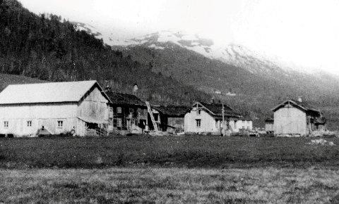 Før 1938 danna gardane i Settemsdalen ein liten landsby. Her er nokre av husa sett frå vest.