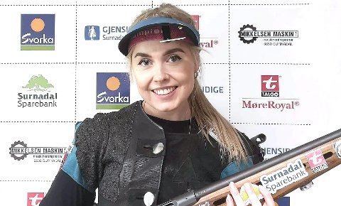 Eline Lillegård var nest best i Nordmør Open.