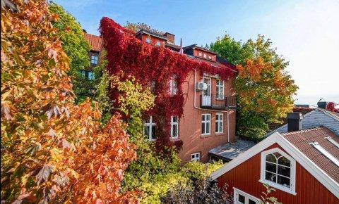 POPULÆRT BYGG: Den eldre teglsteinsgården som ligger i en smal og idyllisk gate, i et området som innehar mye av byens eldste trehusbebyggelse, ble bygget i 1908.