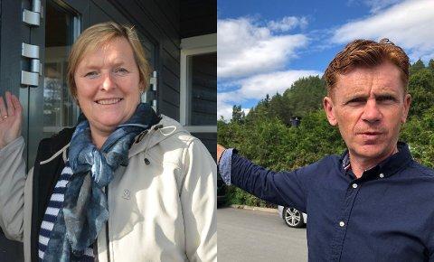 Blid duo: Inger Torun Klosbøle og Håvard Halvorsen er svært fornøyde med å kunne viderebringe budskapet fra en av sine folkevalgte partifeller i Transport- og kommunikasjonskomiteen på Stortinget, Sverre Myrli, om at også Arbeiderpartiet vil prioritere E16 Fagernes sør–Hande