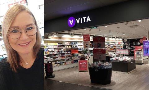 UHELDIG BUTIKKSJEF: Connie Pedersen overtok Vita-butikken på Re-Torvet for tre uker siden. I dag fikk hun beskjed om at selskapet som eier Vita-kjeden er konkurs.