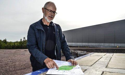 MASSEDEPONI: – Om 20 år skal mesteparten av massene på Borgeskogen være tilbakeført til matjord av ypperste kvalitet, forteller prosjektleder i Format Eiendom, Sigbjørn Myhre.