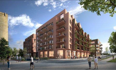 AVVIST: Forslaget fra Skoleveien 2 AS om 140 nye boliger ved krysset Moerveien/Skoleveien i Ås sentrum ble avvist av politikerne.