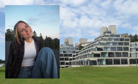 USIKKER HØST: Forhåpentligvis er det her, på University of East Anglia i Norwich i England, Anne Slyngstad Færø får fullført deler av sin bachelorutdanning: – Det er rart å gå inn i en høst hvor jeg er såpass usikker.