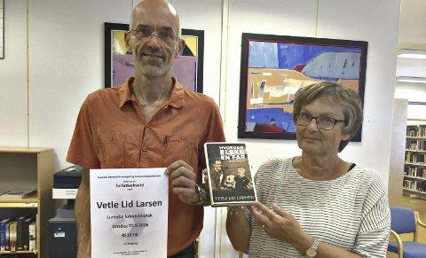 Inviterer: Claus Christian Hansen og Anne Lise Toset Visnes inviterer til en sterk og interessant kveld på biblioteket i Sunndal.