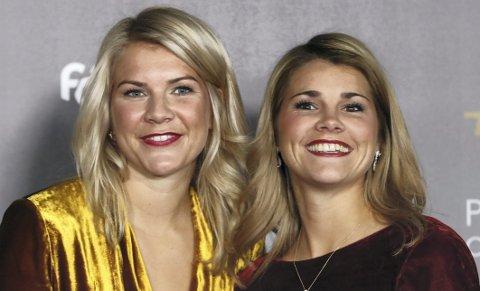 Kommer i bokform: Ada og Andrine Hegerberg, her fra da Ada vant Gullballen i 2018.