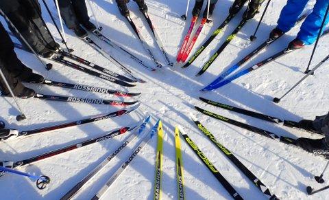 Det står ikke på antall par ski på Knaben!