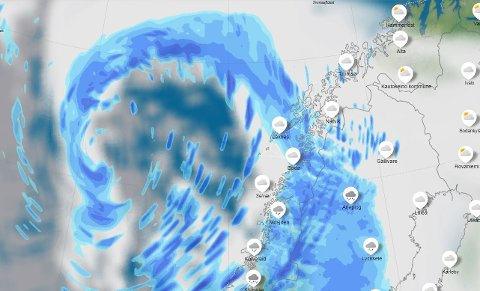 Det kan bli lenge til sola titter fram over Nordland igjen. De kommende dagene skal det bøtte ned over fylket.