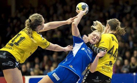 Birgitte Karlsen Hagen og Tertnes har tapt de tre siste kampene, men fant lyspunkt i tapet mot Vipers.Arkivfoto: Eirik Hagesæter