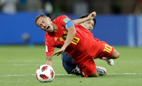 Belgia og Eden Hazard fikk to raske mål imot i starten av 2. omgang, men kjempet seg tilbake.