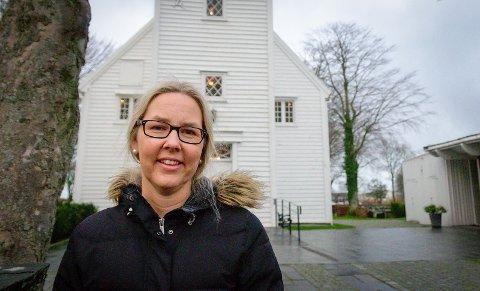 Stengt: Randaberg kirke forblir stengt under oppussingen, forteller kirkeverge Hilde Eikeland.