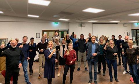 Høyt under taket: Det er god stemning i Stavanger Høyre etter kjemperesultat på en fersk meningsmåling. Nå er partiet størst i storkommunen.