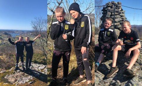 NOKKÅSEN OPP: Mathias G. Sleveland og Johan Ø. Vasbø fikk seg ei real treningsøkt lørdag.