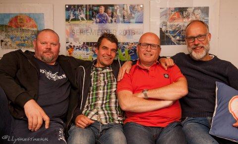 SPREKE SIF-SUPPORTERE: Thor Arne Hanssen (f.v.), Øyvind Stråle, Bjørn Eliassen og Steinar Valset.
