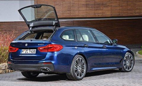 BMW 5-serie sedan ankommer Norge i disse dager. Til sommeren kommer Touring-utgaven, altså stasjonsvogna. Og det er den flesteparten av kundene i Norge vil ha.
