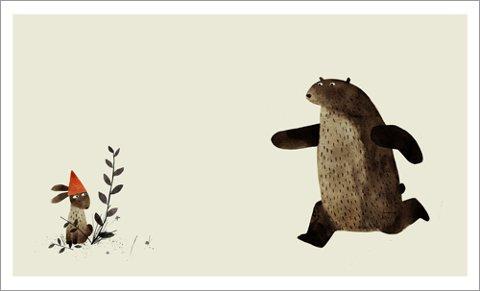 SÅ HATTEN PASSER: En av Jon Klassens tegninger i boken «Jeg vil ha tilbake hatten min».