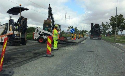 Arbeidene i krysset Torsnesveien og habornveien skal vare i en uke, og det er redusert fremkommelighet i området.