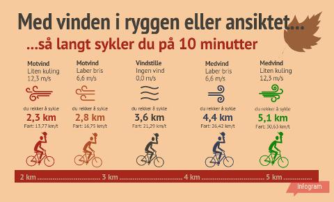 Vinden kan enten være en ordentlig dytt i ryggen, eller et realt slag i ansiktet mens du sykler.