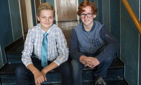 «brødrepar»: Tony Ludviksen (12) og Aksel Norum (13) vil begge gjerne spille rollen som Jonathan Løvehjerte.alle