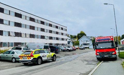 BRANN: Politiet tror at brannen i Eineberggata 22, også kjent som Søsterhjemmet, er påsatt.