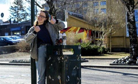 FORNØYD: Ingebjørg Marie Thorkildsen (17) er veldig glad for tilskuddet fra kommunen.