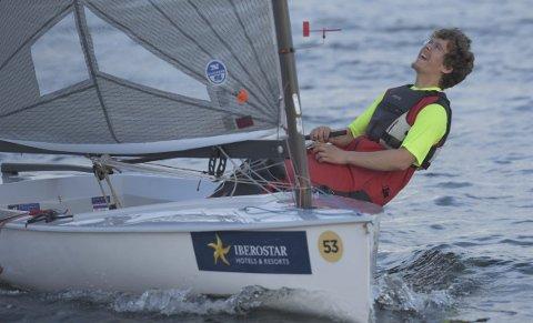 GOD START: Lars Johan Brodtkorb til topps etter første dag i Kiel.