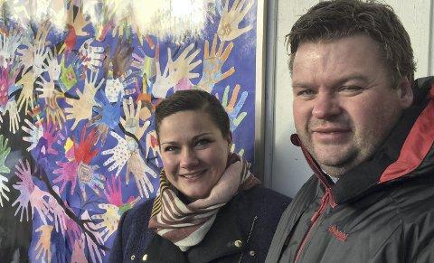 Viktig: Varaordfører Margrethe Haar og rektor Tommy Seigerud holdt begge taler om de viktige verdiene under Blime-dagen.