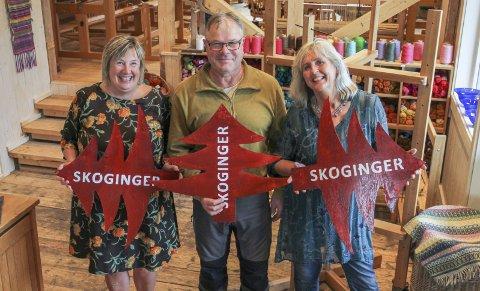 INVITERER: Astrid Hanssen, Tor Nilsson og Anne Eriksdatter Bye inviterer folk flest på kunstrunde fra Lunderseter til Aurskog denne helga.