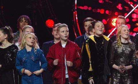 FINALE: Fredrik Amadeus Sannerud sammen med de andre deltakerne.