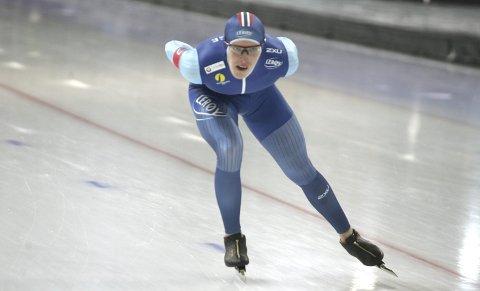 Best på begge distander: Hallgeir Engebråten hadde en kropp som ikke spilte på lag i helga, men norodølingen vant likevel juniorverdenscupen på både 1500 og 3000 meter sammenlagt. FOTO: HENNING DANIELSEN
