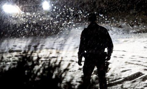 Åstedet: Tiltalte varslet selv om hva som hadde hendt, og politiet rykket raskt ut til boligen der drapet skjedde på kvelden 9. januar i år. Foto: Jon Olav Nesvold / NTB scanpix