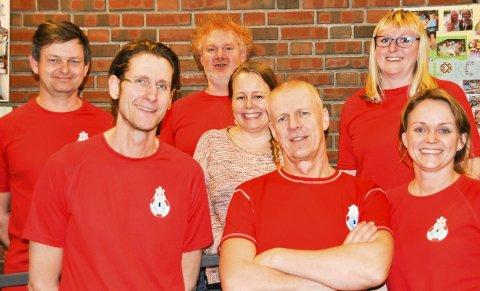 Nytt styre: Fra venstre Ronny Signebøen, Øystein Back, Jan Bjørneby, Linn Aksmo Olsen, Trond Forsstrøm, Hege Nøhr Andersen og Ragnhild Dahl Lauritzen.