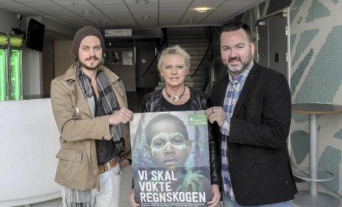 Konsert: – 15. oktober kan du oppleve flotte artister og støtte årets TV-aksjon, sier Philip Mohn (tv), Eva Stømner og Martin Gundersen.foto: Jan Erik Sørlie