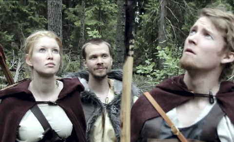 YOUTUBE: Marie Therese Bjørsen, Sindre Solhaug og Torgeir Børset fra en scene i «Graaland».