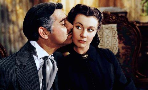 KLASSIKER: «Tatt av vinden, med Clark Gable og Vivien Leigh vises under Bakgårdsfilm lørdag.