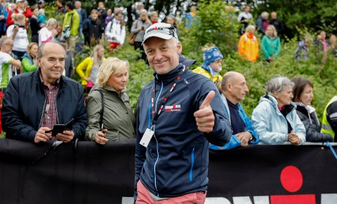 DOBBEL FESTDAG: - Det kommer til å bli veldig kjekt, sier Ironman-sjef Ivar Jacobsen om at det blir både hel- og halvdistanse i Haugesund i sommer.