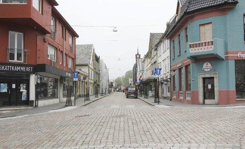 Dag-helge rønnevik:  Haraldsgata har jo blitt virkelig fin med brostein, brede fortauer.