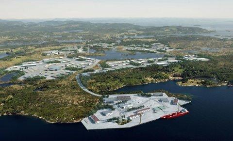 BLE GODKJENT: Vindturbinene vil bli plassert i den nørdøstlige delen av Haugaland Næringspark.