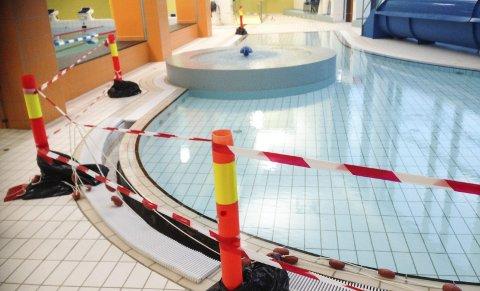 Stengt:  Barnebassenget på Kippermoen svømmehall har vært stengt siden oktober i fjor. Terapibassenget har delvis vært i bruk til enkelte grupper.  FOTO: PER VIKAN