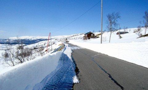 ÅPEN: Fra veien sørover fra kafeen på Korgfjellet. Bildet er tatt i 2014.