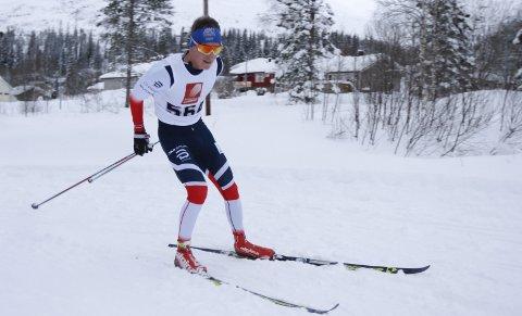 AVSLUTTET STERKT: Aleksander Slydahl begynner å komme i form. Her er han i Romjulsrennet på Granmoen.