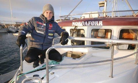 NAVN FRA SANG: Speedsjarken «Victoria» fra Myre har skiftet navn til «Nordaførr» og fått ny eier og Vadsø som hjemmehavn. Audun Erikstad forteller at han har hentet navnet fra en sang.