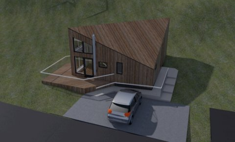 SLIK KAN DET BLI: Arkitekt Alexander Kupz ser for seg småhusene slik.