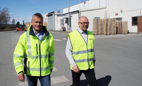 KAN GLEDE SEG: Daglig leder Svein Olav Munthe og konsulent Martin Klausen ved Aven Holmestrand AS