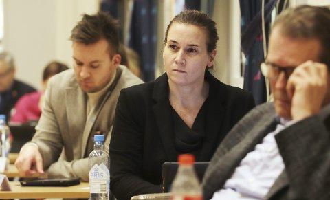 Ikke særlig fornøyde: Jon Tunheim, Janne Hjelmtvedt og Alf Johan Svele på Høyrebenken, sammen med FrP og KrF, stemte mot forslaget. Foto: Pål Nordby