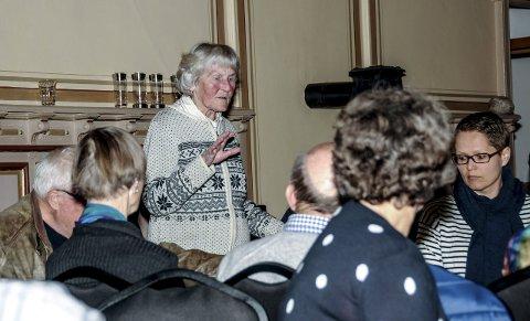 Tok ordet: En sterkt preget Edith Thiseth ba årsmøtet om å skrinlegge indre stridigheter og se framover.