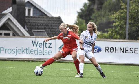 Høyt nivå: Frida Brødsjø (t.h.) fra Kroken debuterte i 1. divisjon denne sesongen. Begge foto: Trond Albert Bleken
